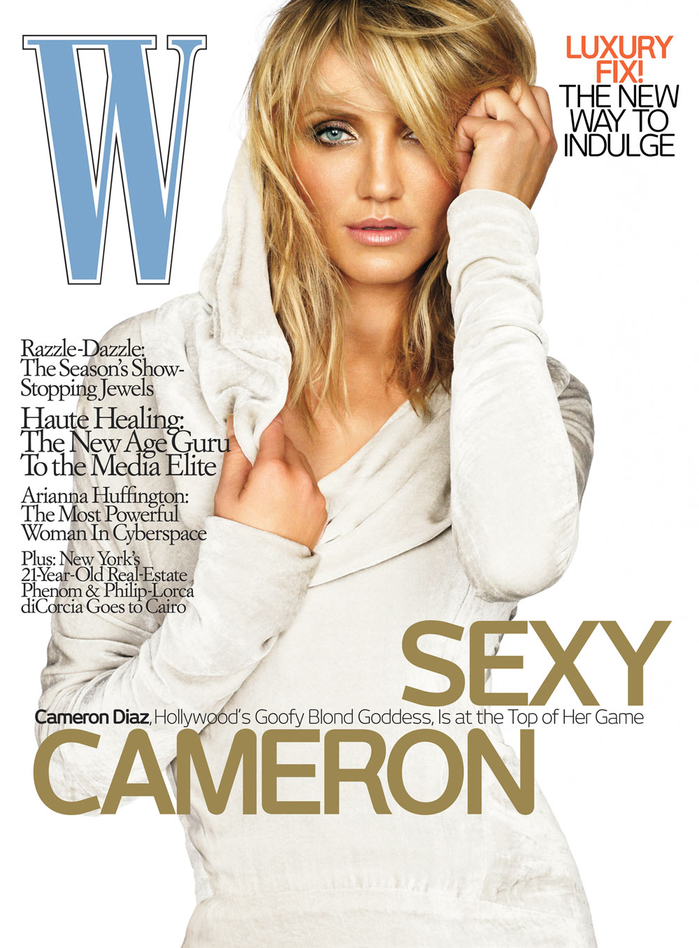 Cameron Diaz is on  May 2008 issue of W magazine   The issue hits