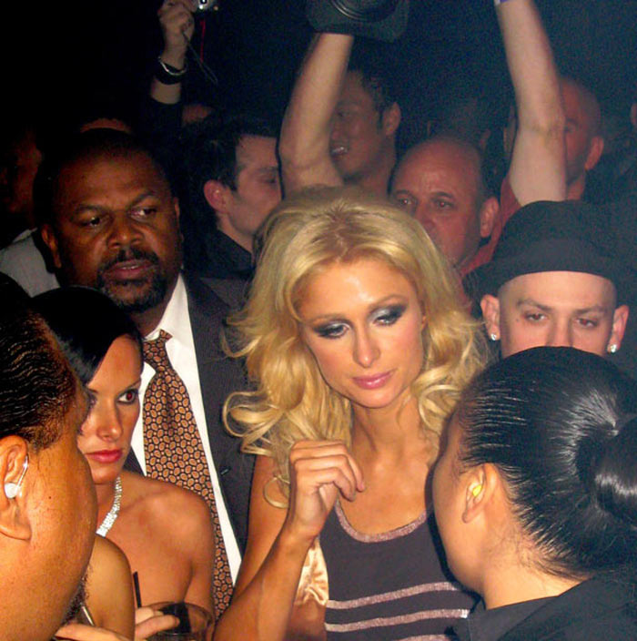 Paris Hilton and Benji Madden at Prive nightclub after attending the